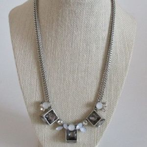 Jewelry - Silver & Crystal Statement Necklace STUNNING